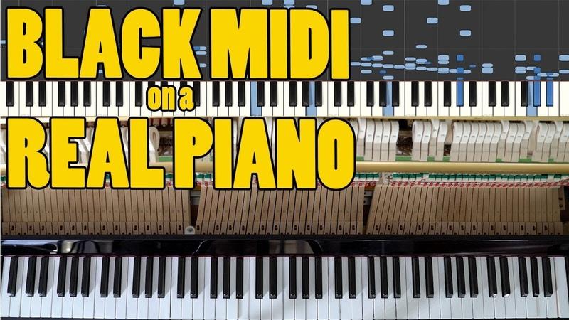 BLACK MIDI On a Real Piano! - U.N. Owen was her? The Death Waltz