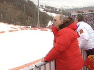 Владимир Путин приехал в Розу Хутор, чтобы поболеть за наших паралимпийцев