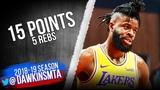 Reggie Bullock Full Highlights 2019.02.12 Hawks vs Lakers - 15 Pts, 5 Rebs FreeDawkins