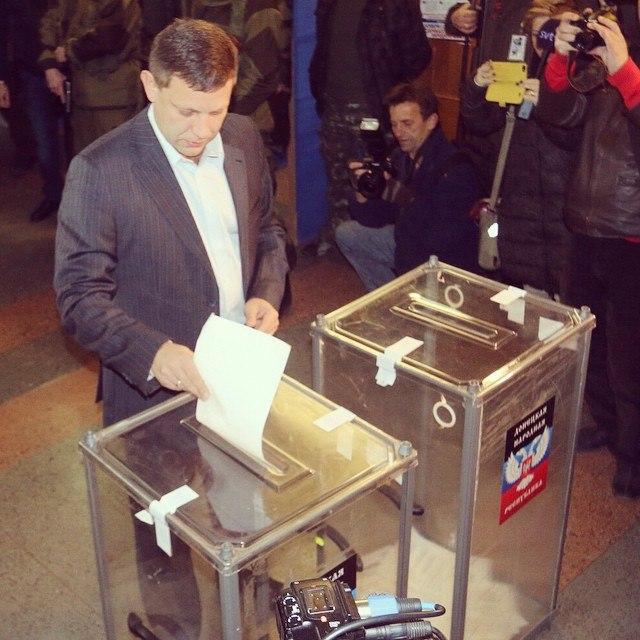 голосует Захарченко