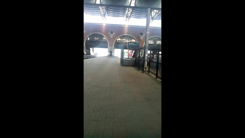 На Казанском Вокзале в Москве.