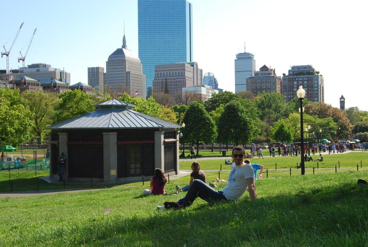 В парке Бостона