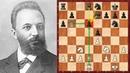 Шахматы. Учебная партия Михаила Чигорина по использованию пешечных слабостей