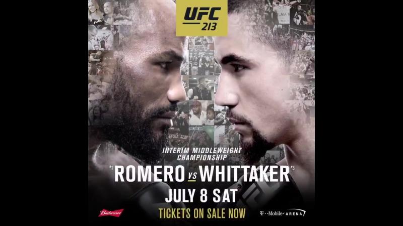 Йоэль Ромеро vs Роберт Уиттакер UFC 213