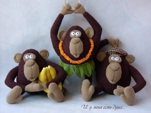 Выкройка обезьянки.