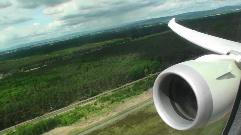 Fantastic Business Class HD Boeing 787 Dreamliner Takeoff From Frankfurt On Qatar Airways