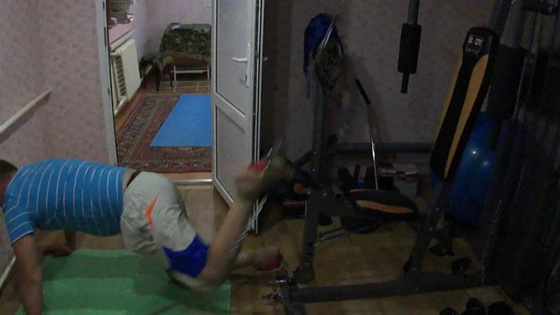 Проект Побеждаем грыжи межпозвонковых дисков.Упражнение-9.Дракон левой ногой.