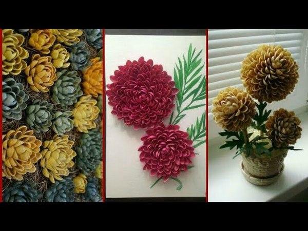 Beautiful Pista shell craft pistachio flowers arrangement