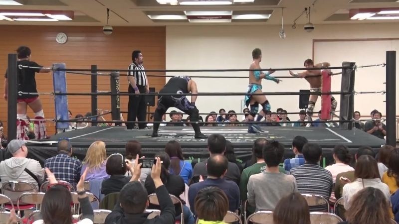 Mad Paulie, Nobuhiro Shimatani vs. Kazuki Hirata, Makoto Oishi (DDT - Road To Ryogoku ~Dramatic Dream Toruhokake~)