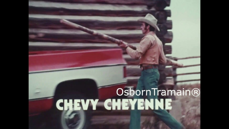 1973 Chevy Cheyenne Pickup 4x4 drive Truck Commercial - Features 1966 Chevy BETTER COLOR
