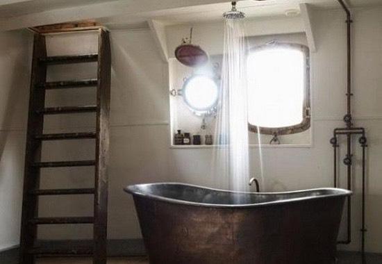 ванная комната в индустриальном стиле
