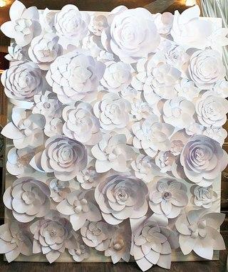 Большие цветы из бумаги пошаговое фото