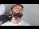Barber depilation with HOT FILM WAX Italwax