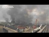 Пожары на юге Европы  огонь у Сен Тропе