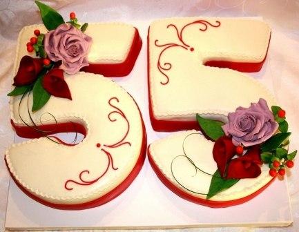 Торт на 55летие картинки