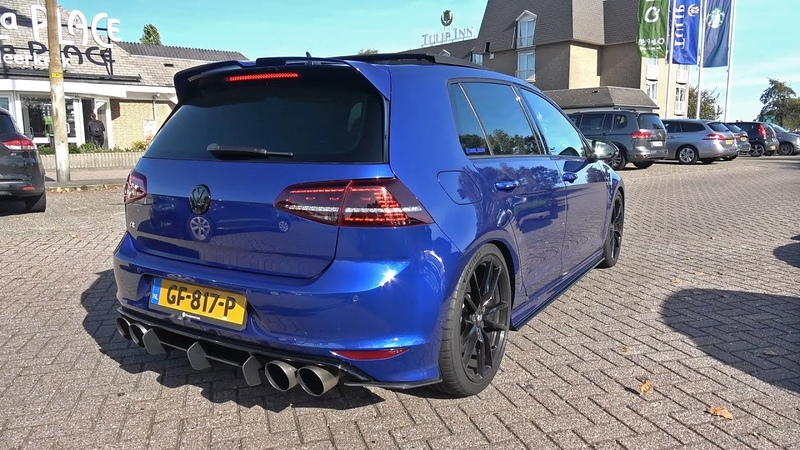 400HP VW Golf 7 R with LOUD Armytrix Exhaust System REVS ACCELERATIONS