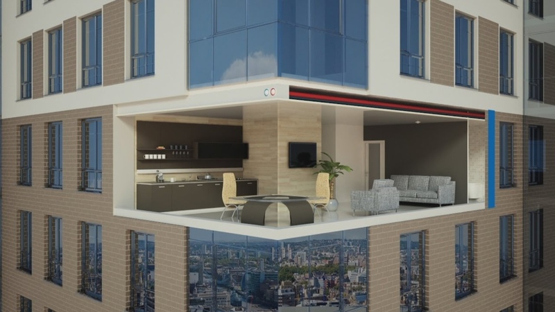 Blauberg Frigate ERV 120 SR энергосберегающая система вентиляции для квартиры