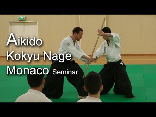 合気道 呼吸投げ Aikido seminar in Monaco - Kokyu Nage