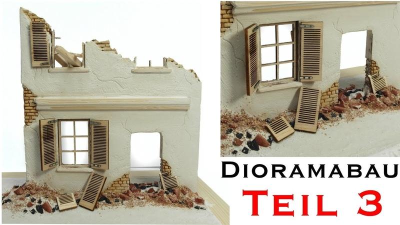 Hausruine selber bauen Tiger 1 Winter Diorama 1 35 Modellbau Teil 3