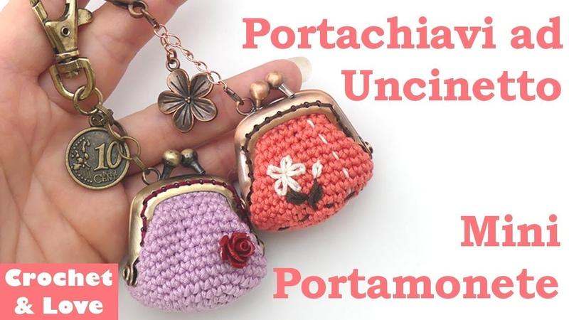 Tutorial Mini Portamonete Clic Clac per Portachiavi ad Uncinetto sub Eng y Esp