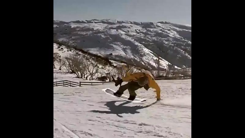 Animation snowboarding