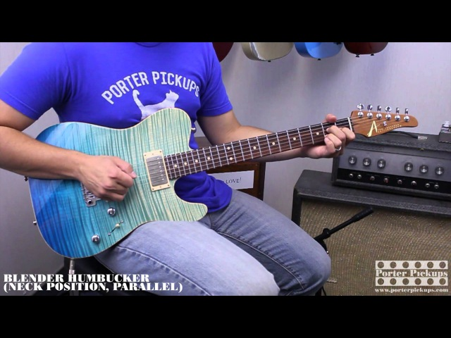 Porter Pickups Blender Humbuckers, Tom Anderson Cobra Guitar