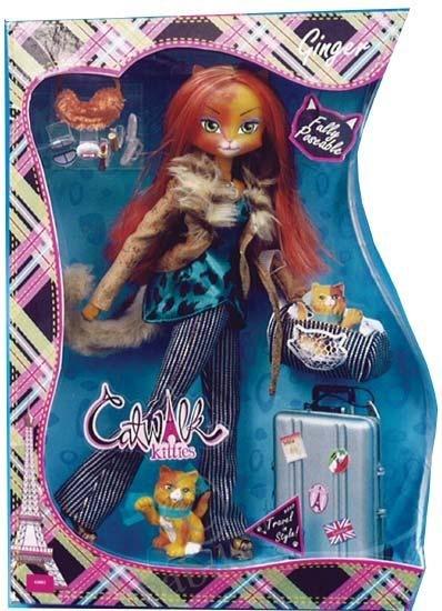 Коллекционная куколка catwalk kitties кукла кошка-модели фирма lanard,по типу барби