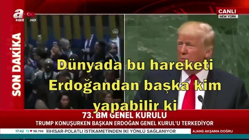 ERDOĞAN'DAN TRUMP'A GÖRÜLMEMİŞ AYAR. HELAL SANA BE REİS..mp4