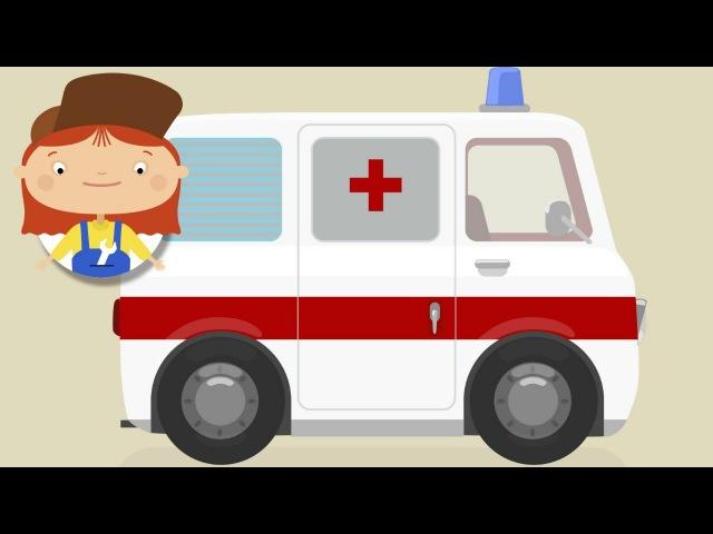 Doctor McWheelie Ambulance. Car cartoons for kids.