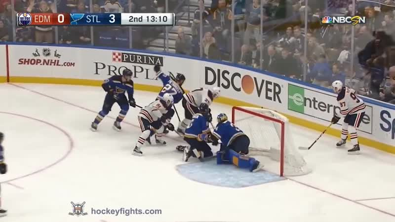 Hockey fight Matthew Benning vs Vladimir Tarasenko Nov. 21, 2017 Хоккейные драки. Тарасенко.