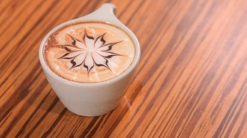 How to Etch a Star Latte Art