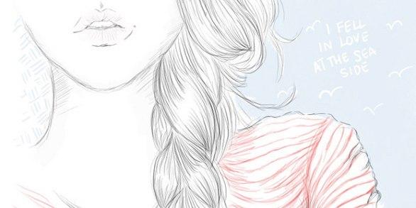 картинки для рисования для девочек карандашом