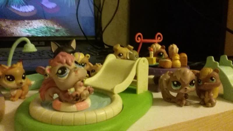 11 серия Littlest pet shop Домик для Мышей Белок