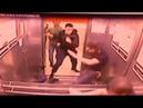 Жесткая драка Уложил троих в лифте