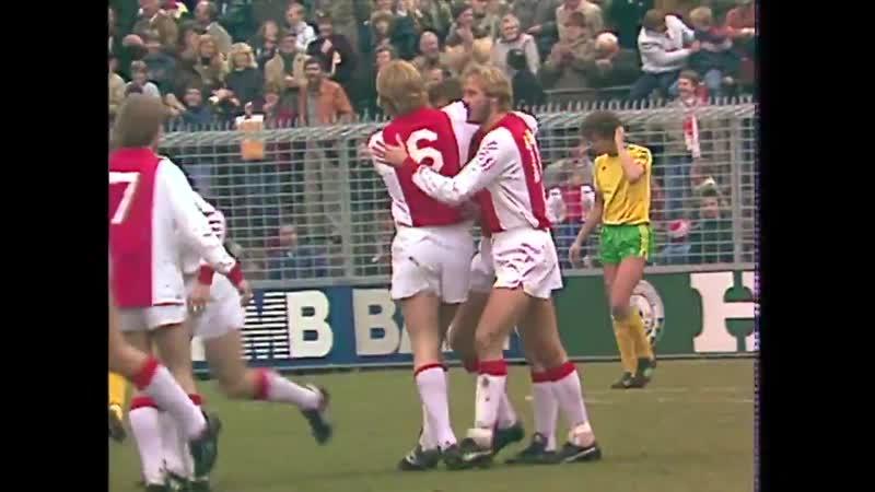 On this day in 1982, Ajax demolished ADO Den Haag in a Eredivisie showdown at stadium De M