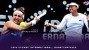 Timea Bacsinszky vs Aliaksandra Sasnovich 2019 Sydney International Quarterfinals WTA High
