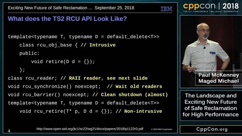 """CppCon 2018: """"TheLandscape and Exciting New Future of Safe Reclamation for High Performance"""""""