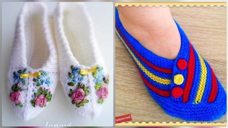 Elegant handmade crochet winter shoes pattern for womens wear