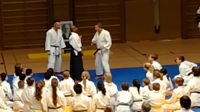 семинар для детей с сенсеем Joe Thambu Shihan 8 Dan Yoshinkan Aikido 2018 Weilheim
