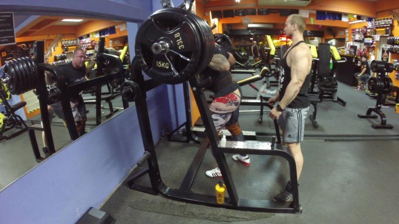 Single Squat 250kg/551lb 2 sets