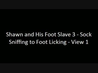 Молодой Хозяин заставляет раба нюхать носки и вылизывать ноги