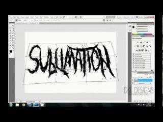 Dutch Kills Logos - Creating a brutal deathcore logo! (Speedrun/Tutorial)