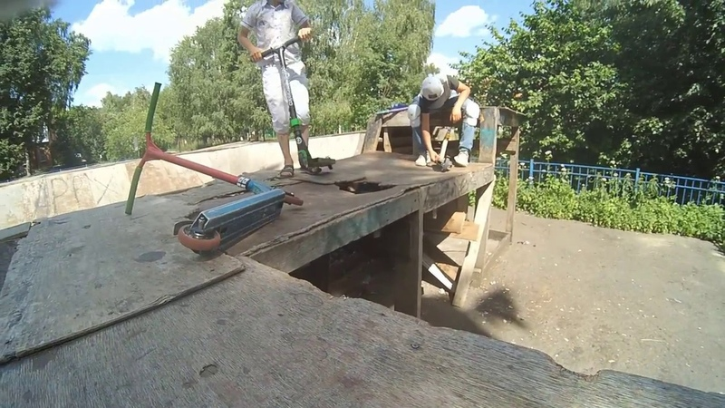 ремонт скейтпарка (стол мини-рампы) 20180620