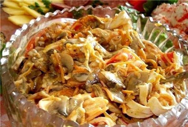 """Салат """"Нежный"""" Он ооочень вкусный, нежный и ароматный!!! Приготовление: Режем"""