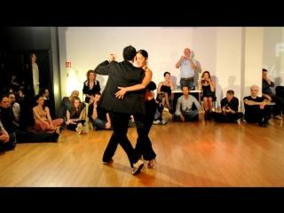 Bruno Tombari Mariangeles Caamano 100% tango festival Ljubljana 25-03-2011 (milonga)