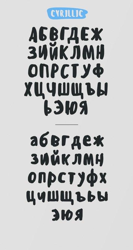 Шрифт sensei