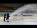 Заливка хоккейного корта Ледового дворца Август 2018