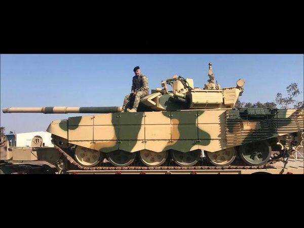 Демонстрация первых поставленных в Ирак из России танков Т 90С иракскому военному командованию 14 ап