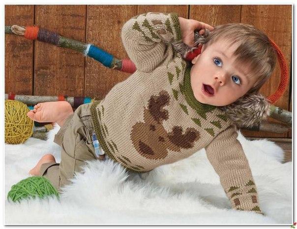 Пуловер спицами (2 фото) - картинка