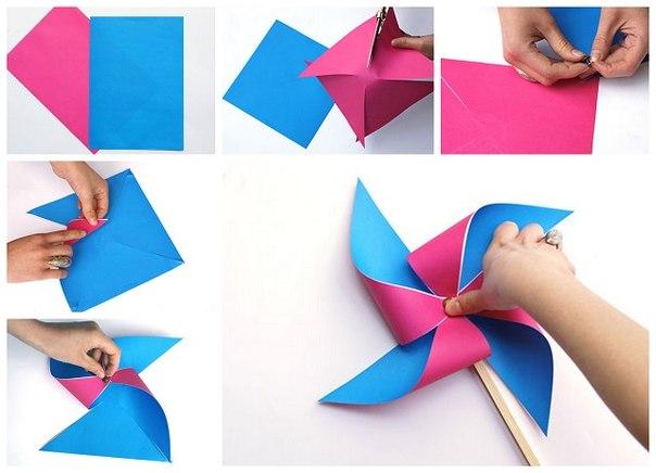 Как сделать флюгер из бумаги 2 класс